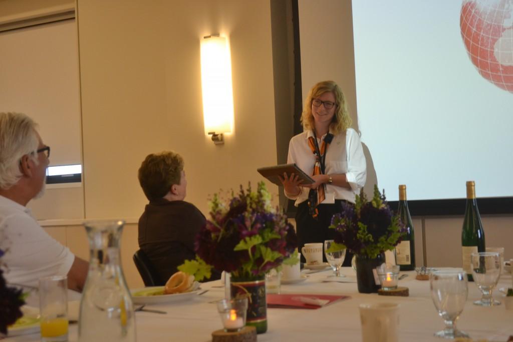 ASKs ordförande Sandra var på plats för Cornells 60-årsjubileum.